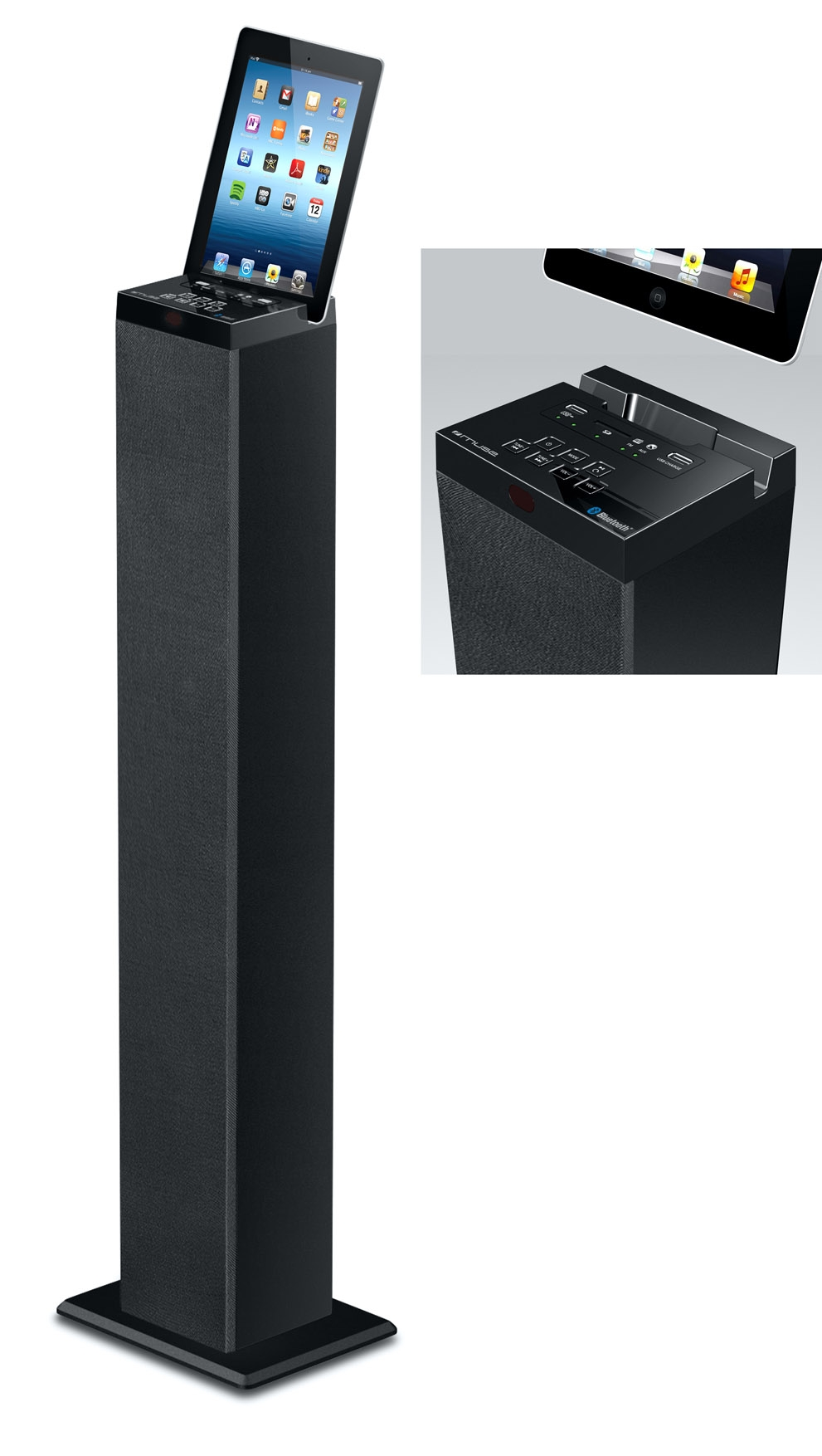 muse enceinte bluetooch haut parleur bluetooth avec tuner radio. Black Bedroom Furniture Sets. Home Design Ideas